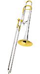 Conn 88HSGX Silver Bell - Open Wrap Bb/F Trombone