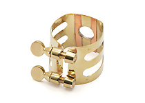 Wood Stone Original Tenor Sax Ligature (Metal Otto Link Regular fit) - Brass