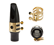 Wood Stone Original Tenor Sax Ligature (Small Ebonite fit) - Gold Plated