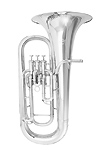 Windcraft WEP-100 Silver Plated - 3 Valve Euphonium