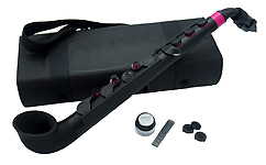 Nuvo jSax in Black with Pink Trim