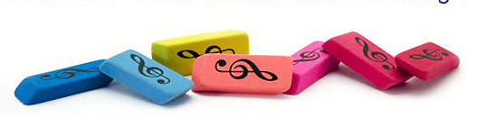 Pencil Eraser - Treble Clef Design