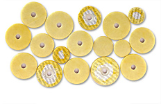 Yamaha Flute Pad Set 16 Piece - Deluxe Yellow Skin