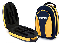 Rosetti Backpack Bb Clarinet Case - Blue and Yellow