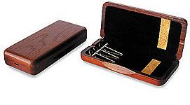 Wooden Oboe Reed Case 3 Reed Capacity - Mahogany