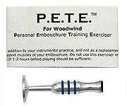 Warburton P.E.T.E Woodwind Player Embouchure Trainer - Silver Plated