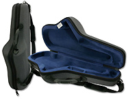 Winter Alto Sax Case Green Line Shaped - Standard