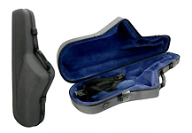 Winter Tenor Sax Case Green Line Shaped - Big Bell