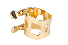 Wood Stone Original Tenor Sax Ligature (Metal Gaurdala fit) - Gold Plated