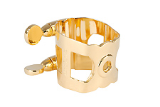 Wood Stone Original Tenor Sax Ligature (Metal Otto Link Regular fit) - Gold Plated