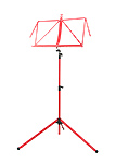 K&M 3 Section Deluxe 100/1 Music Stand - Red
