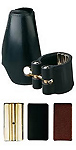 Vandoren Leather Ligature for Tenor Sax 3 Plates - Leather Cap