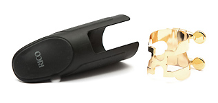 Rico Alto Sax H Ligature and Cap Set - Gold Plated