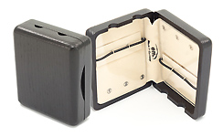 Wooden Alto Sax Reed Case 6 Reed - Black