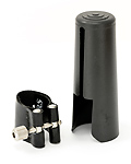 Rovner 2RS Dark Alto Clarinet Ligature and Cap - Older Packaging
