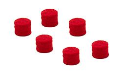 Felt Bumper 9mm diameter x 8mm - Red