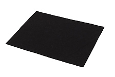 Sheet Felt Black - 1.0mm thick - Approx 220mm x 160mm