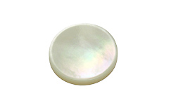 Key Pearl - 15.4mm plastic - concave