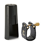 BG Soprano Sax Ligature and Cap - Leather Style