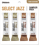 Select Jazz Tenor Sax Reed Sampler Pack - Strength 2M and 2H