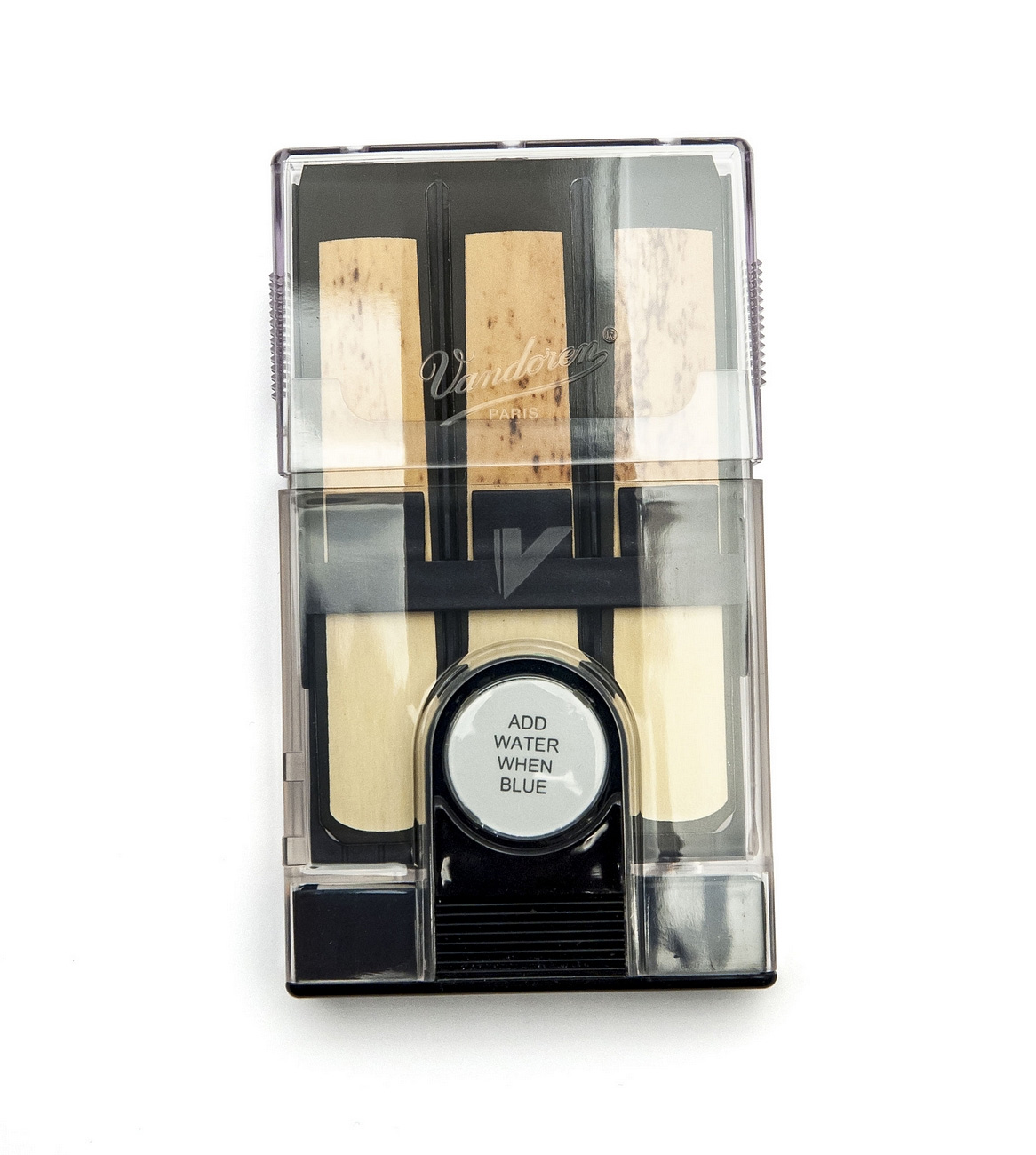 vandoren hygro reed case for 6 tenor baritone or bass clarinet reeds. Black Bedroom Furniture Sets. Home Design Ideas