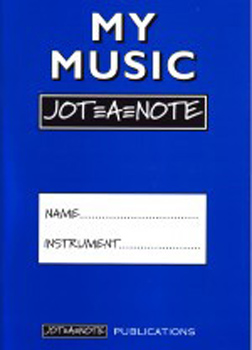 My Music Jot-A-Note (Blue) Practice Notebook