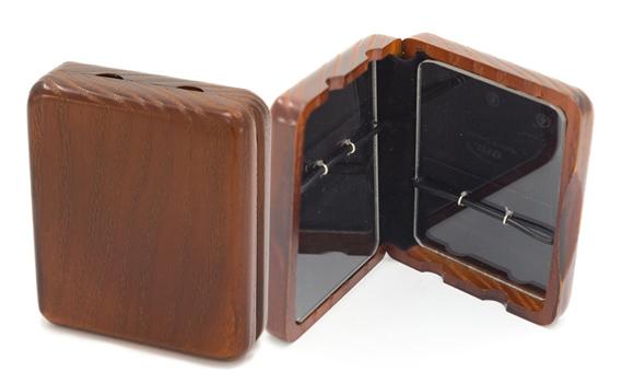 Wooden Tenor Sax Reed Case 6 Reed - Mahogany