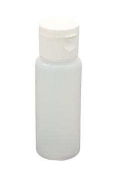 Round Bottle & 20mm White Flip Top Cap