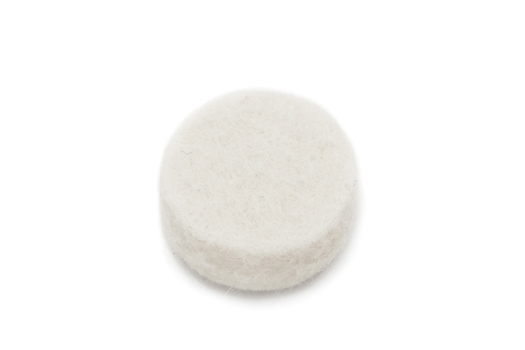 Felt Bumpers White - 14.3mm OD x 6.4mm Thick
