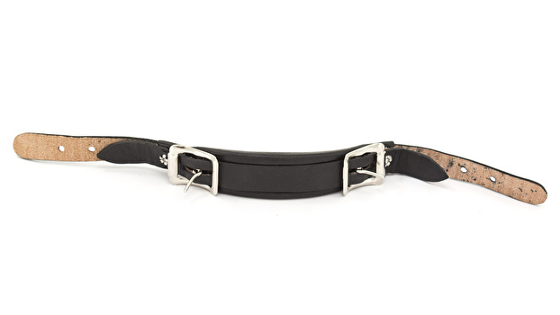 End Buckle Leather Emergency Handle - Black