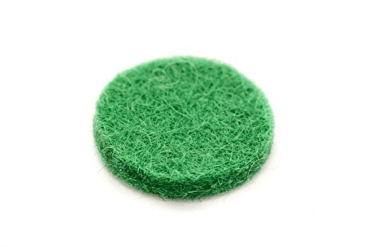 Felt Disc - Green - 15mmx2mm