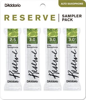 Reserve Alto Saxophone Reed Sampler Pack - Strength 2.5 and 3