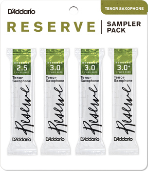 Reserve Tenor Saxophone Reed Sampler Pack - Strength 2.5 and 3