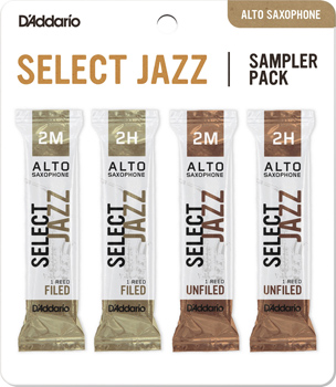 Select Jazz Alto Saxophone Reed Sampler Pack - Strength 2M and 2H